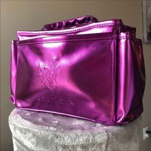 Metallic Purple iridescent travel makeup handbag